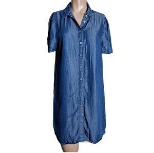 Paper crane CHAMBRAY SHORTSLEEVE DRESS size S